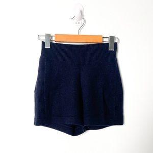 J Brand Navy Blue Cashmere Lounge Shorts
